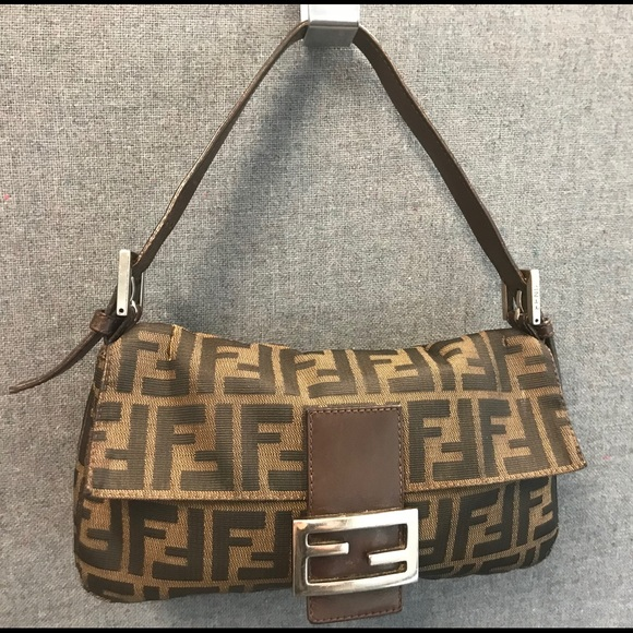 Fendi Bags   Authentic Ff Logo Zucca Baguette Purse   Poshmark 6131000748